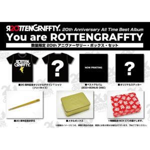 【610倶楽部有料会員限定 先⾏予約】 「You are ROTTENGRAFFTY」【数量限定20thアニヴァーサリー・ボックス・セット(2CD+BONUS DISC+GOODS)】